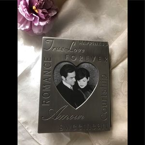 NIB Royal Limited silver love album frame
